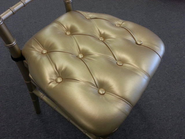 Where to find Cushion for Chiavari Chair Gold Vinyl in Iowa City