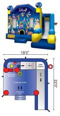 Where to rent Inflatable Combo - Disney in Iowa City IA
