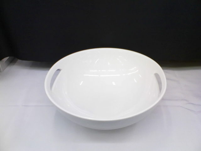 Where to find White China 16  Round Bowl w Handle in Iowa City