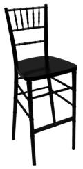 Where to rent Black Chiavari Ballroom Barstool in Iowa City IA