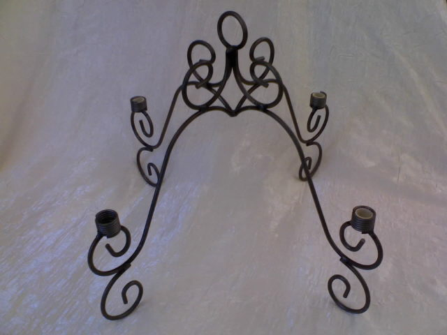 Where to find Iron Scroll Chandelier w Glass Cups in Iowa City