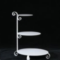 Where to rent White 3 Tier Scroll Round Dessert Stand in Iowa City IA