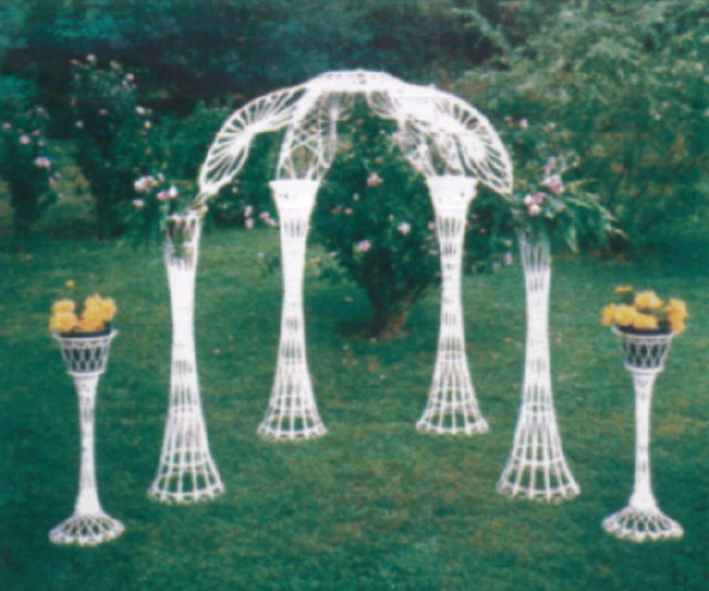 Where to find White Wicker 4pc Gazebo in Iowa City