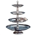Where to rent 4 Tier Silver Cupcake Dessert Stand in Iowa City IA