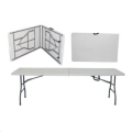 Where to rent 8ft Banq Table Plastic Fold in Half in Iowa City IA