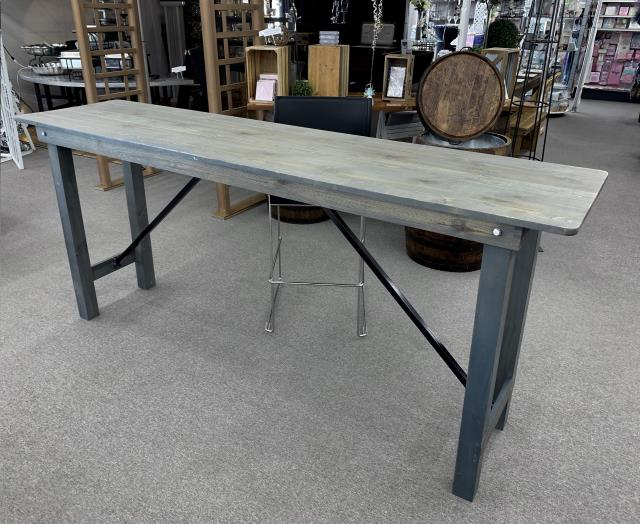 Where to find 2ftx8ft  Gray  Farm Bar Height Table in Iowa City