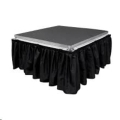 Where to rent 11.5  x 8ft Black Stage Skirt in Iowa City IA