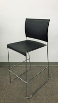 Where to rent Bar Stools  Chrome   Black Seat   Back in Iowa City IA