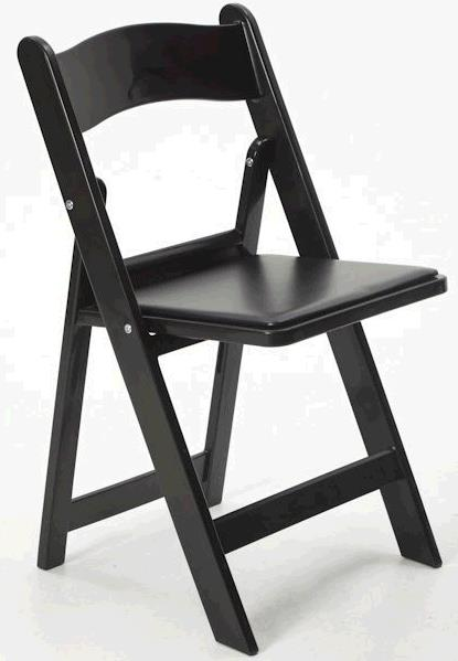 Where to find Black Resin Padded Chair in Iowa City