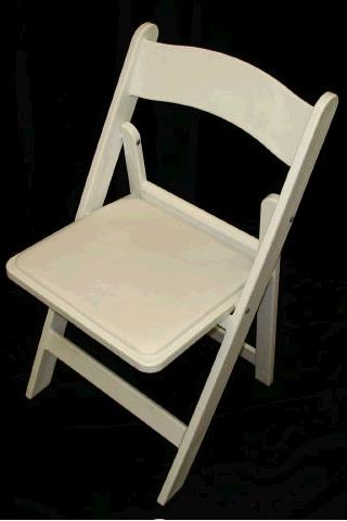 Where to find White Resin Padded Chair in Iowa City