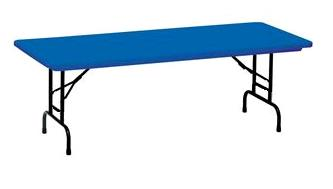 Where to find Kids Table - Blue 6ft Plastic in Iowa City