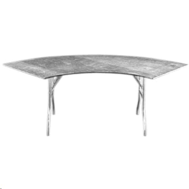 Where to find 5ft Chrome Swirl Serpentine Table in Iowa City