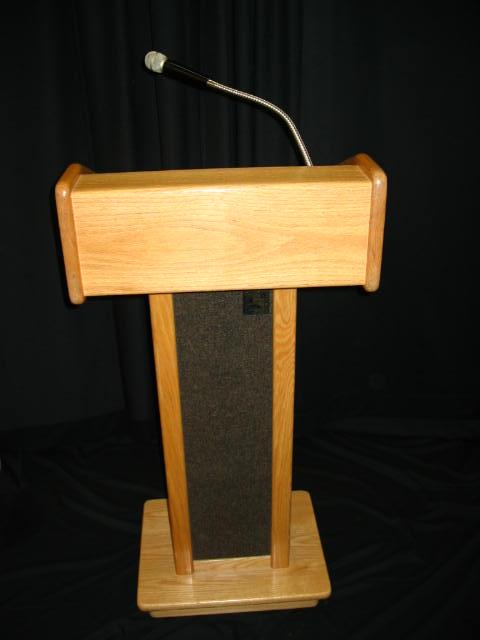 Where to find PA System - Oak Lectern in Iowa City
